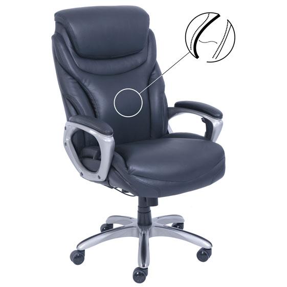 La Z Boy Executive Active Lumbar Chair with Silver Frame