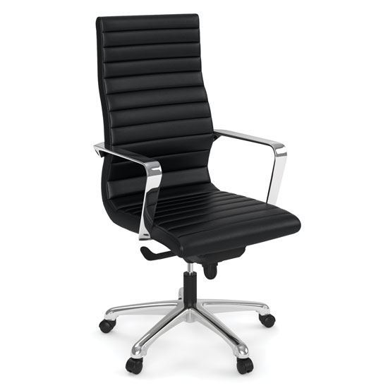 Executive High Back Chair with Chrome Frame