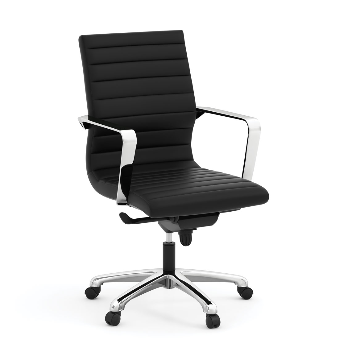 OfficeSource Tre Collection Executive Mid Back Chair with Chrome Frame