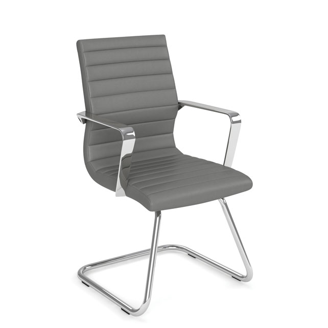 Executive Guest Sled Base Chair with Chrome Frame