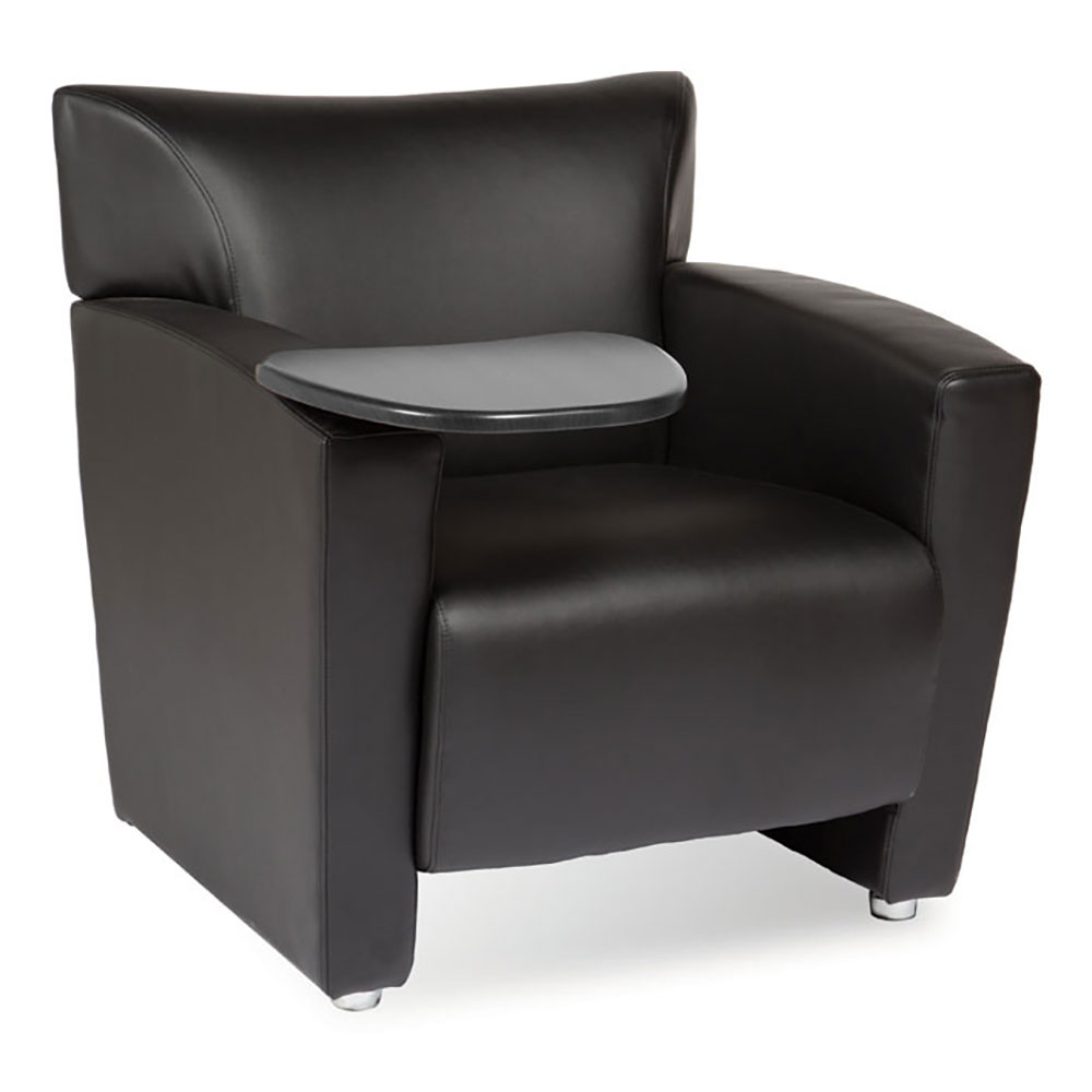 Tribeca Club Chair with Carbonized Finished Tablet Arm