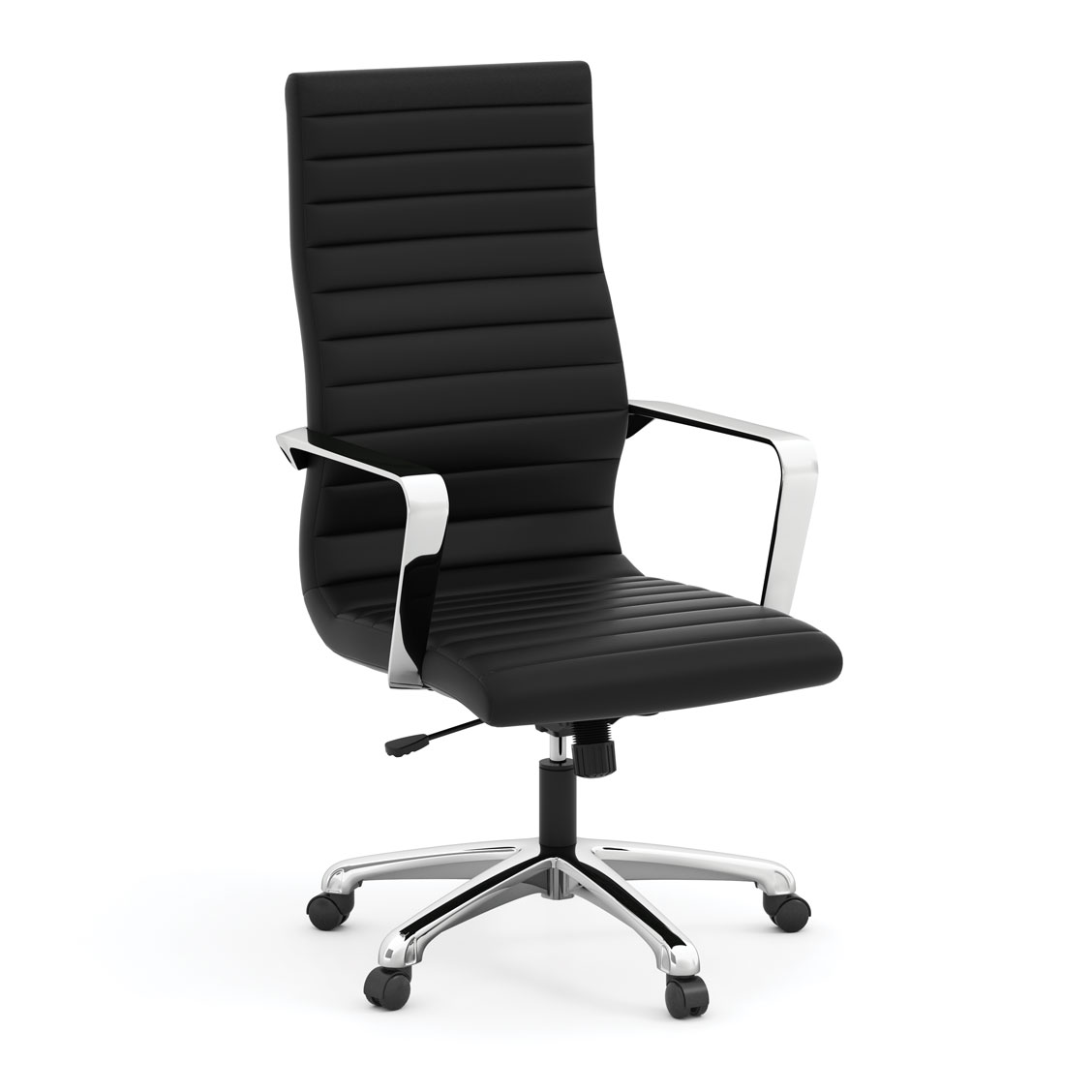 OfficeSource Tre Lite Collection Executive High Back Chair with Chrome Frame