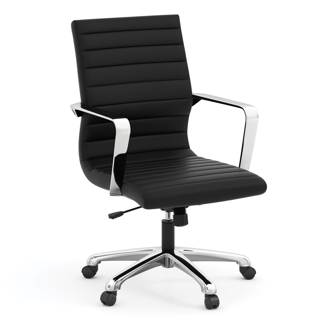 Executive Mid Back Chair with Chrome Frame
