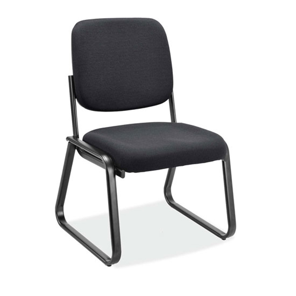 OfficeSource Value Collection Armless, Sled Base Guest Chair with Black Frame