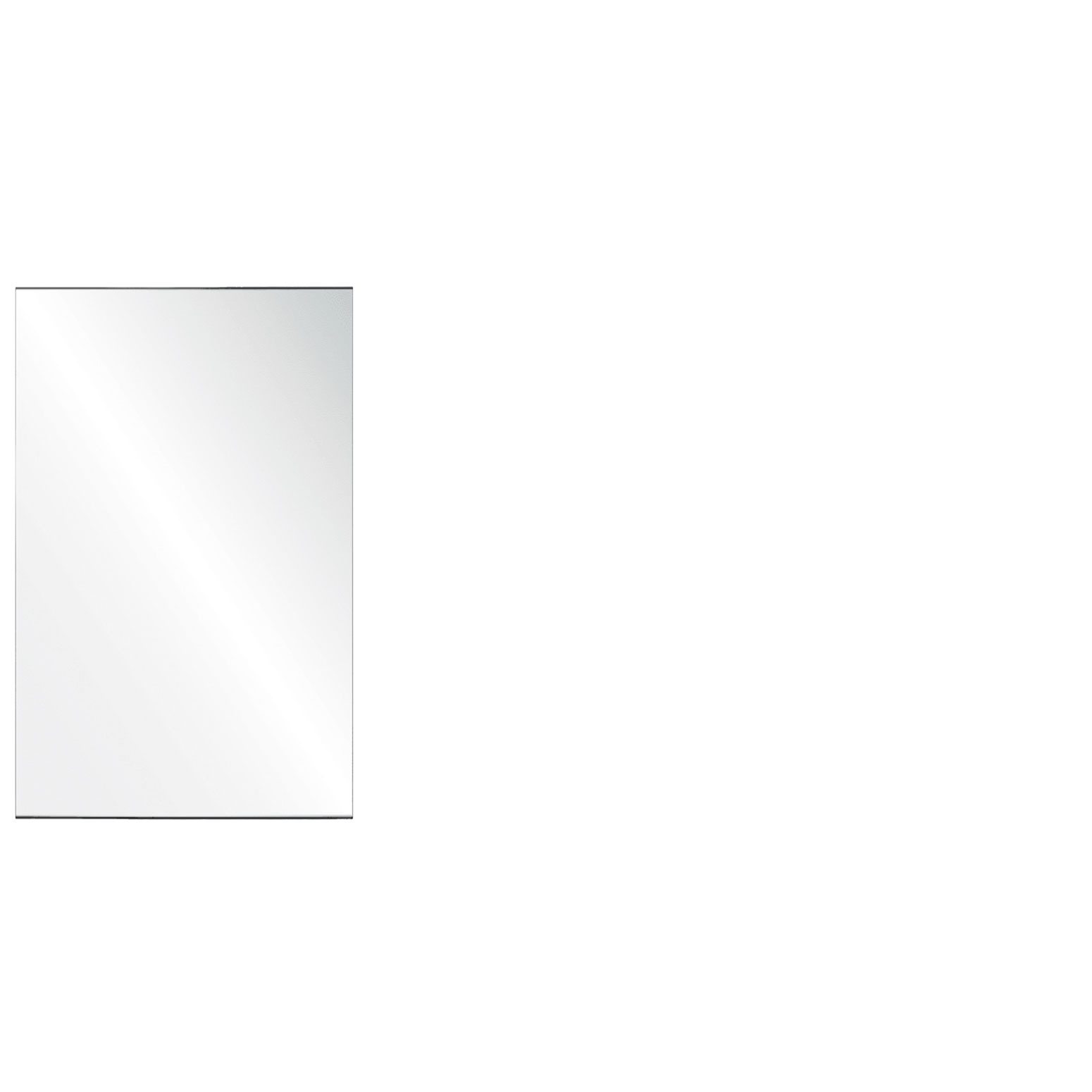 Clear Acrylic Screen with Square Edges – 24″W x 24″H