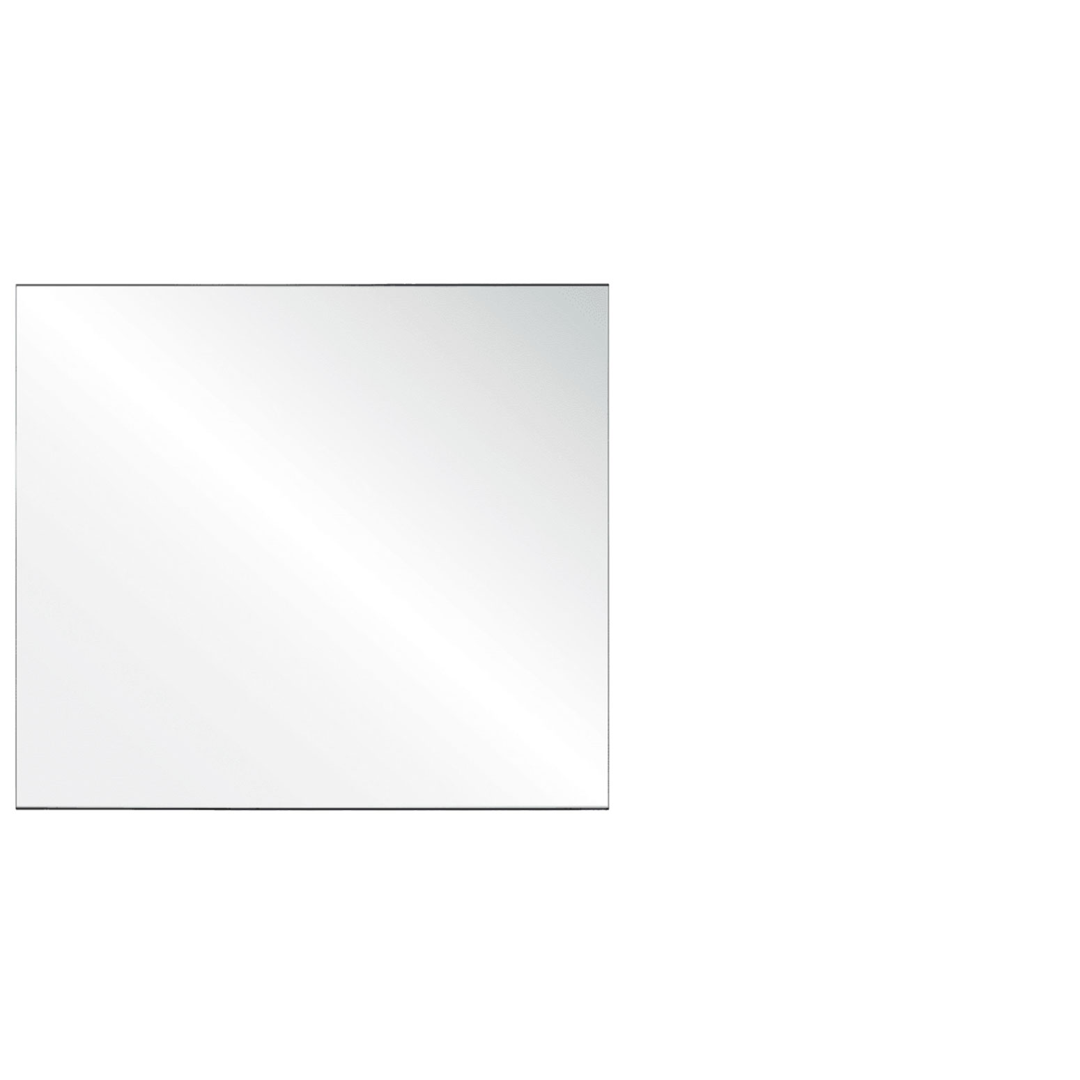 Clear Acrylic Screen with Square Edges – 42″W x 24″H