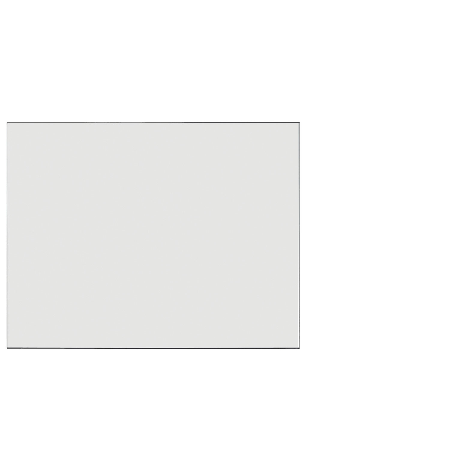 Frosted Acrylic Screen with Square Edges – 48″W x 24″H