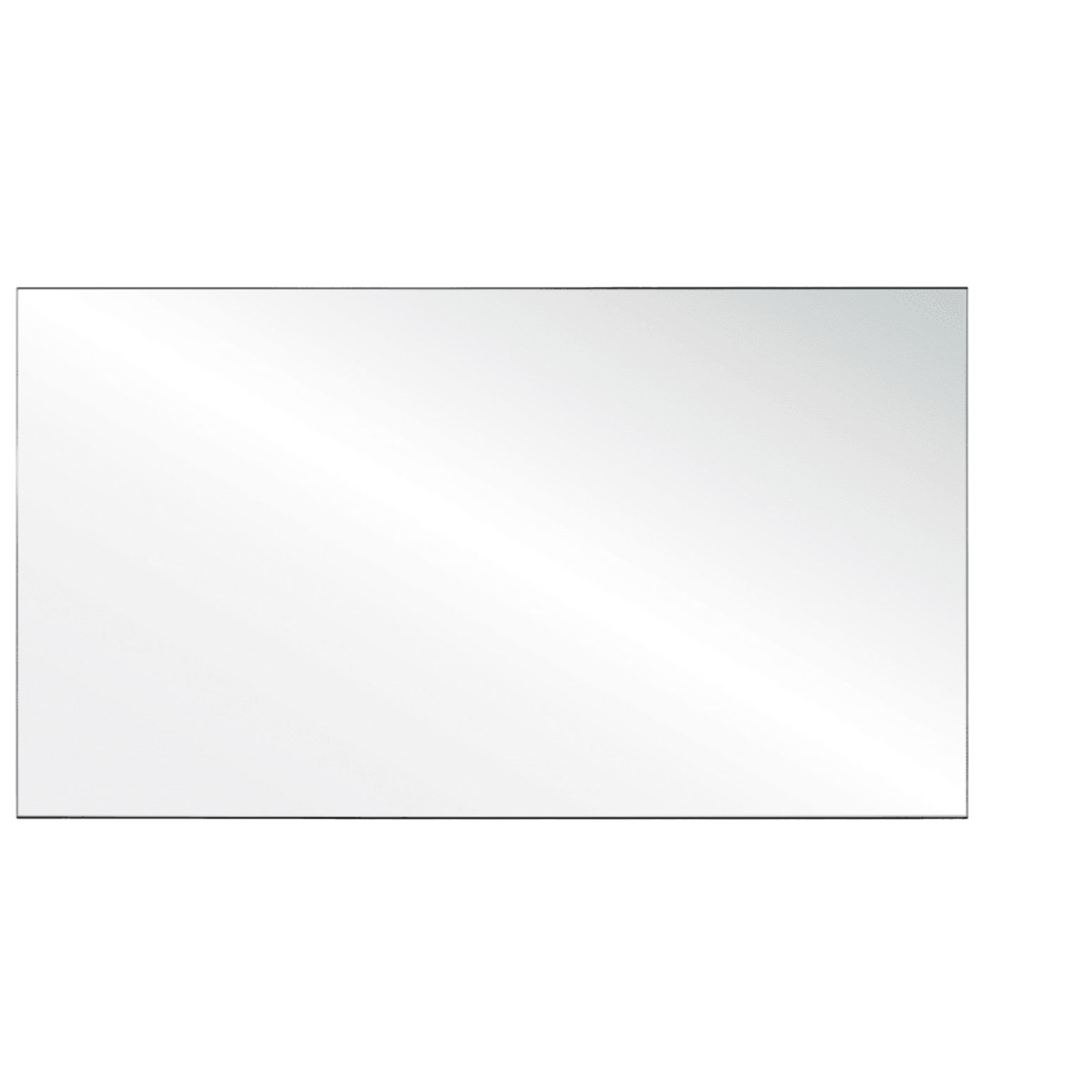 Clear Acrylic Screen with Square Edges – 66″W x 24″H