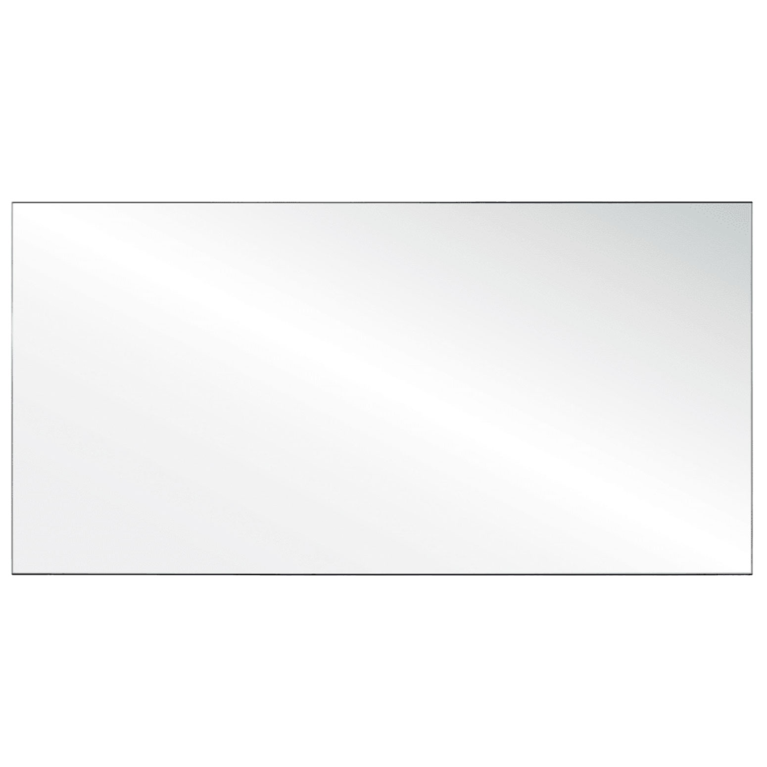 Clear Acrylic Screen with Square Edges – 72″W x 24″H