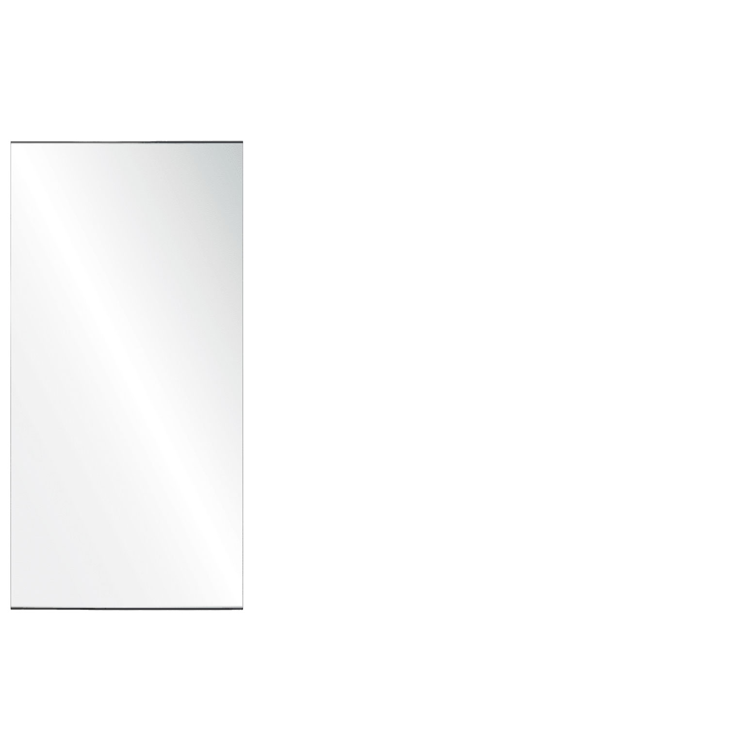 Clear Acrylic Screen with Square Edges – 24″W x 30″H