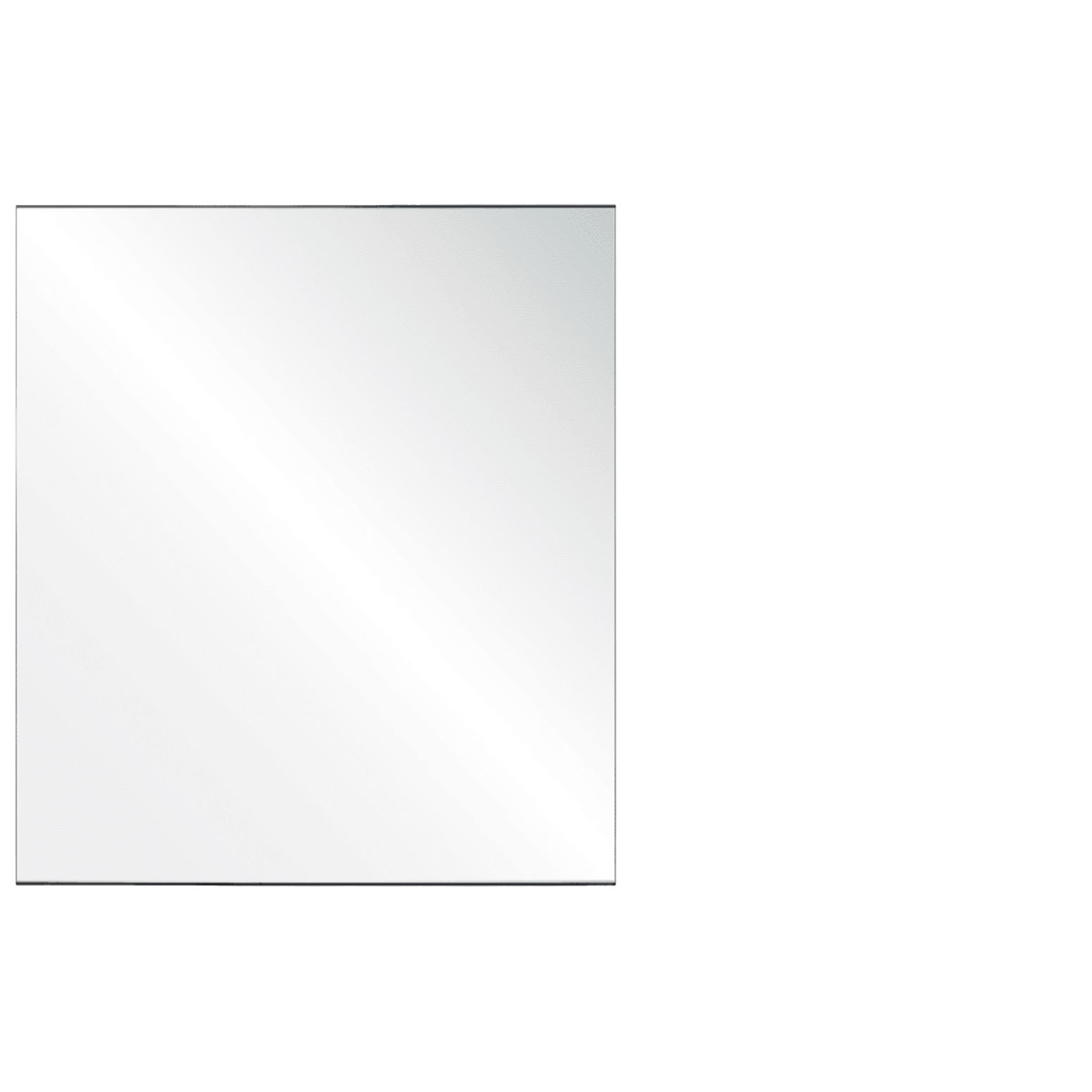 Clear Acrylic Screen with Square Edges – 42″W x 30″H