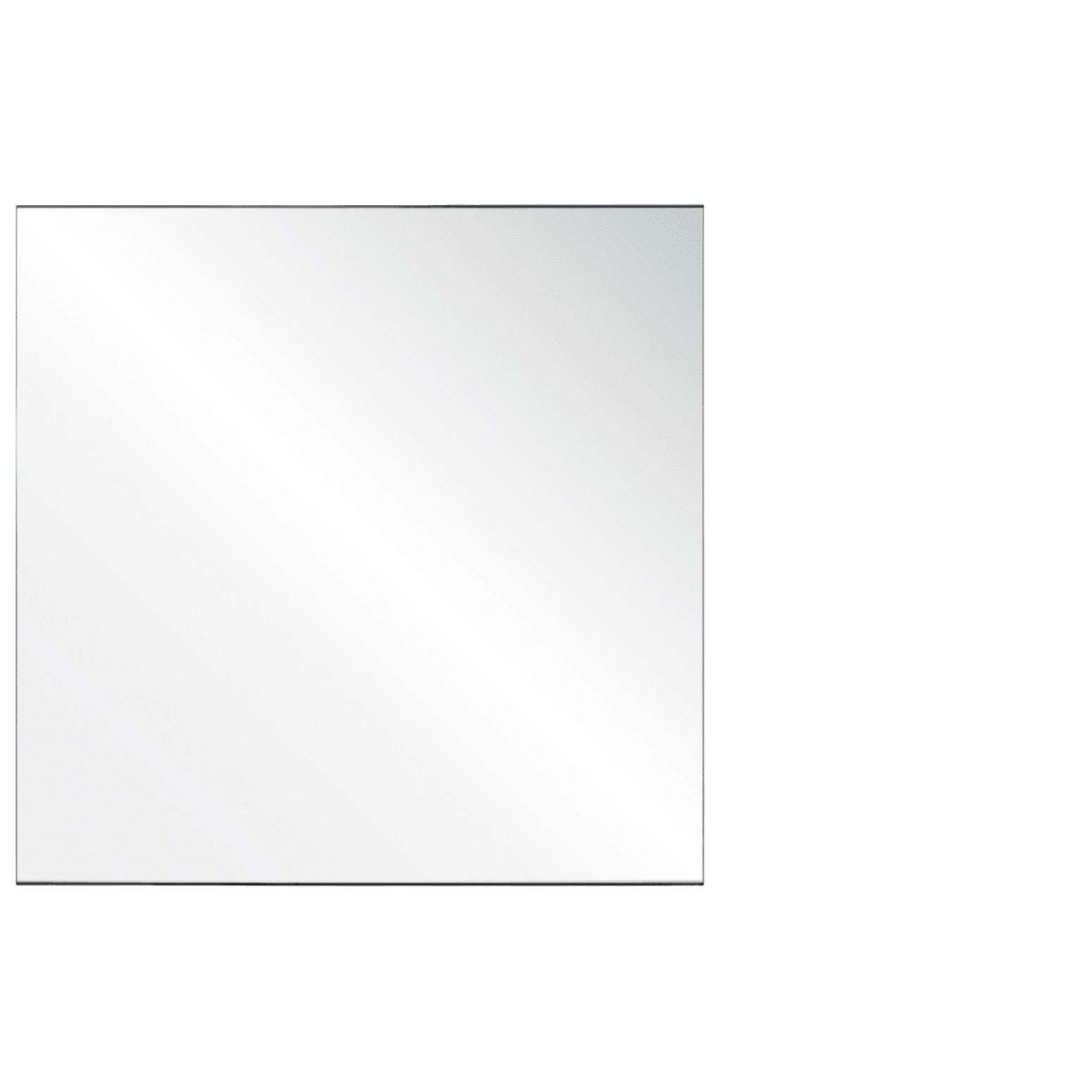 Clear Acrylic Screen with Square Edges – 48″W x 30″H