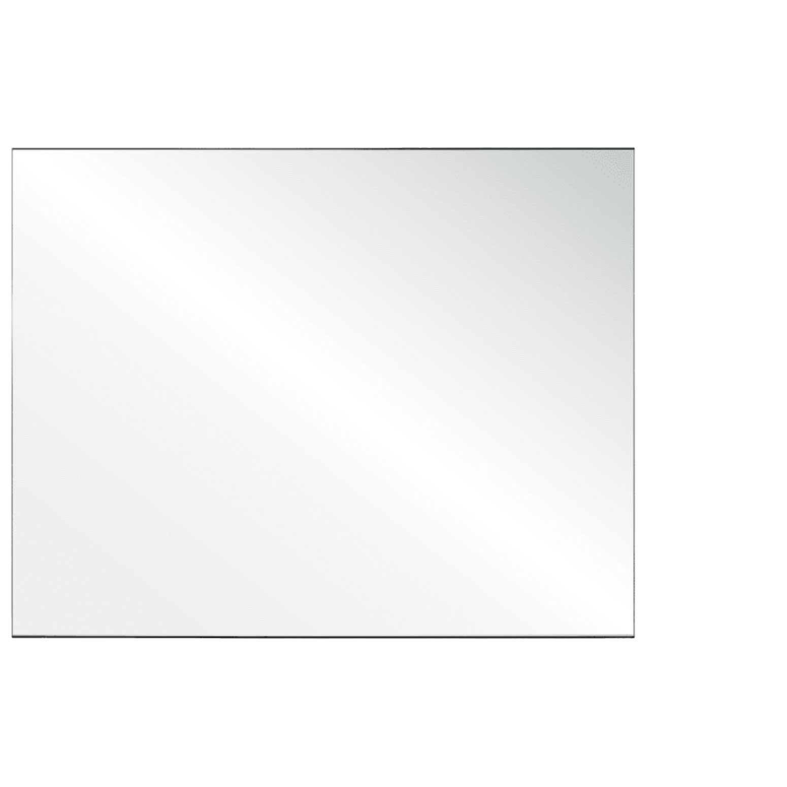 Clear Acrylic Screen with Square Edges – 60″W x 30″H
