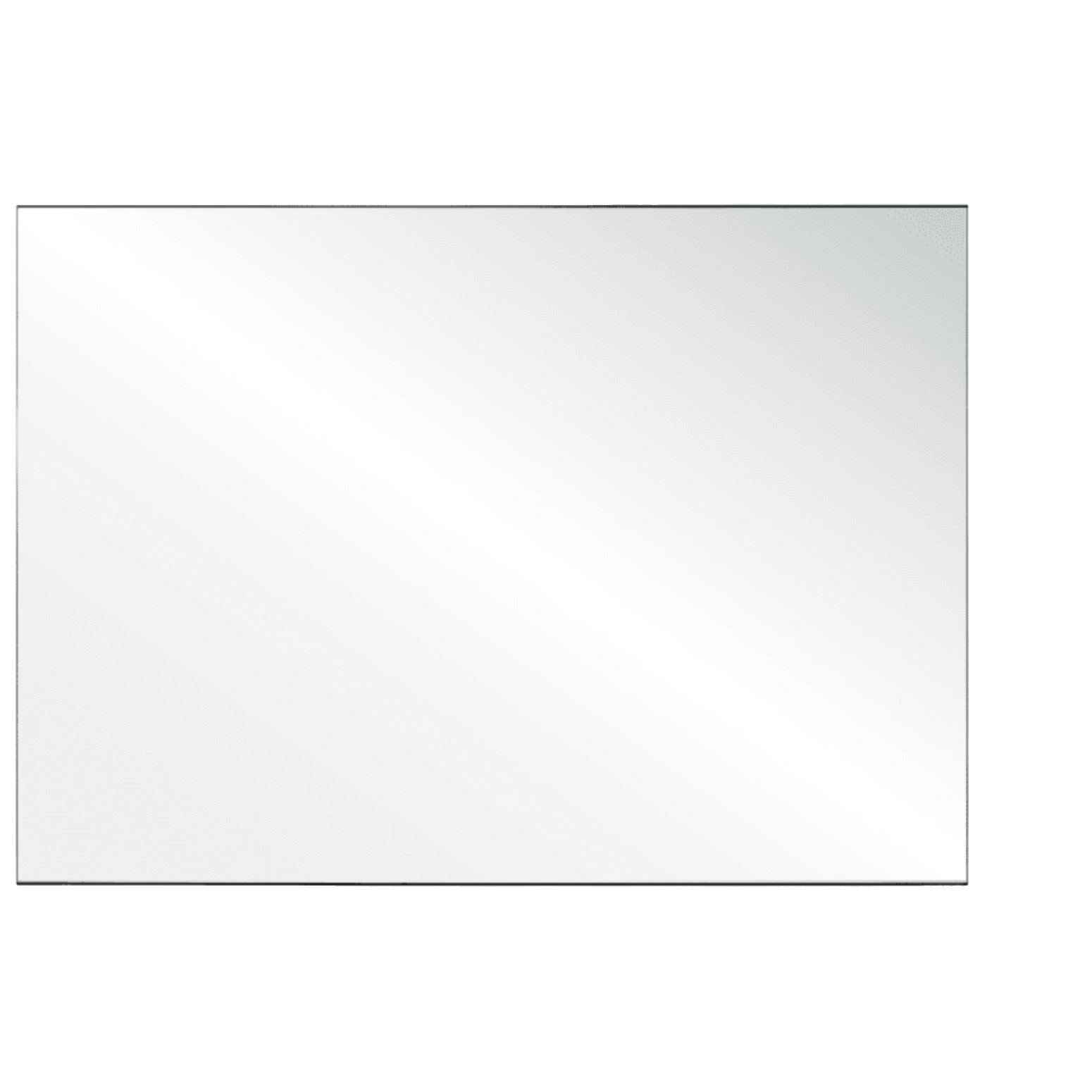 Clear Acrylic Screen with Square Edges – 66″W x 30″H