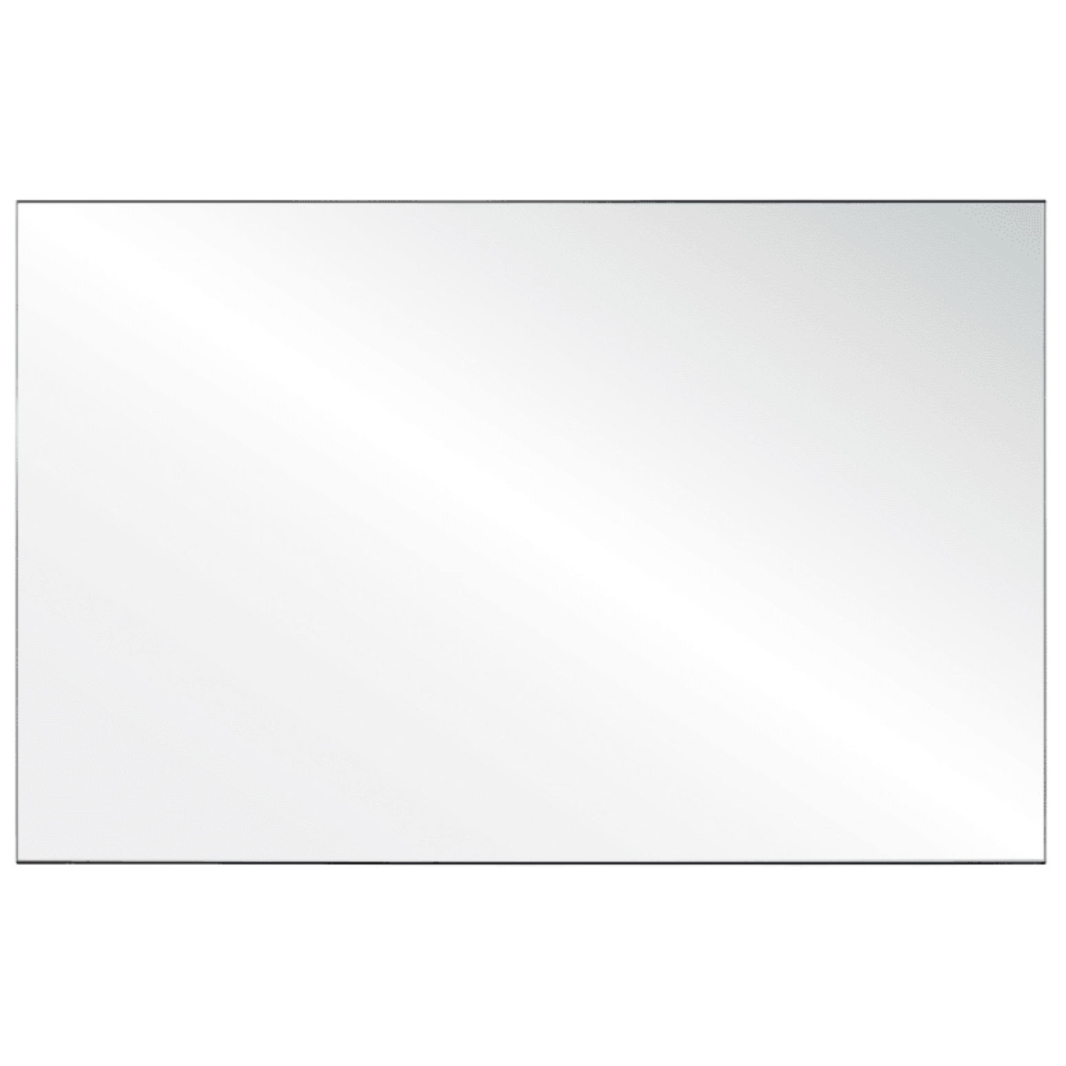 Clear Acrylic Screen with Square Edges – 72″W x 30″H