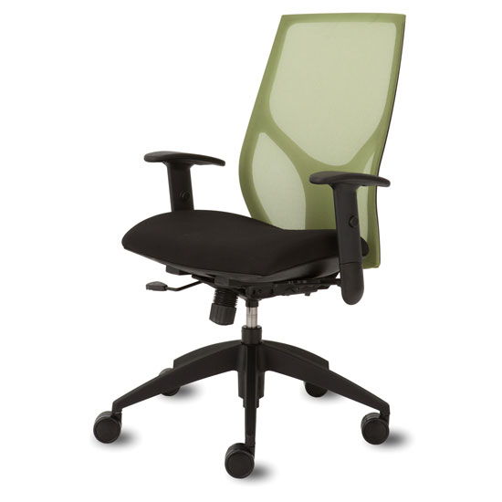 Mid Back Chair with Black Frame