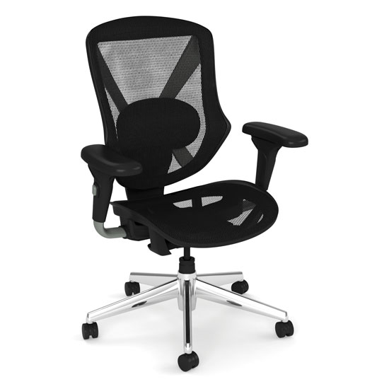 Mid Back All Mesh Task Chair with Chrome Base