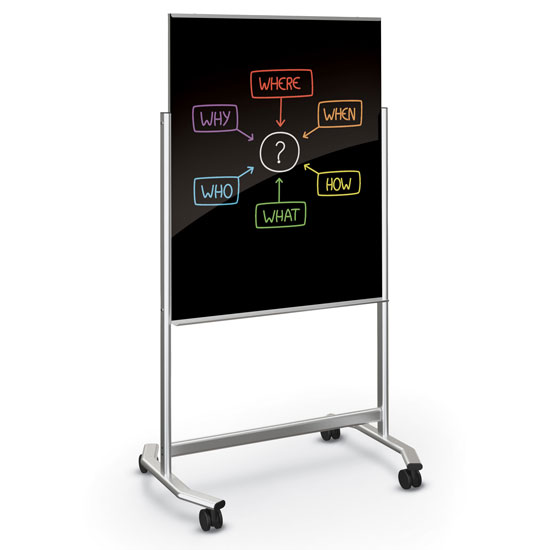 Visionary Move Mobile Magnetic Glass Board