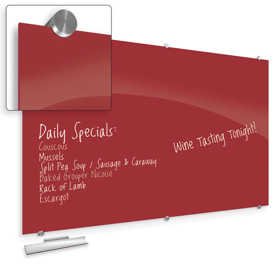Visionary Hierarchy Magnetic Glass Dry Erase Board