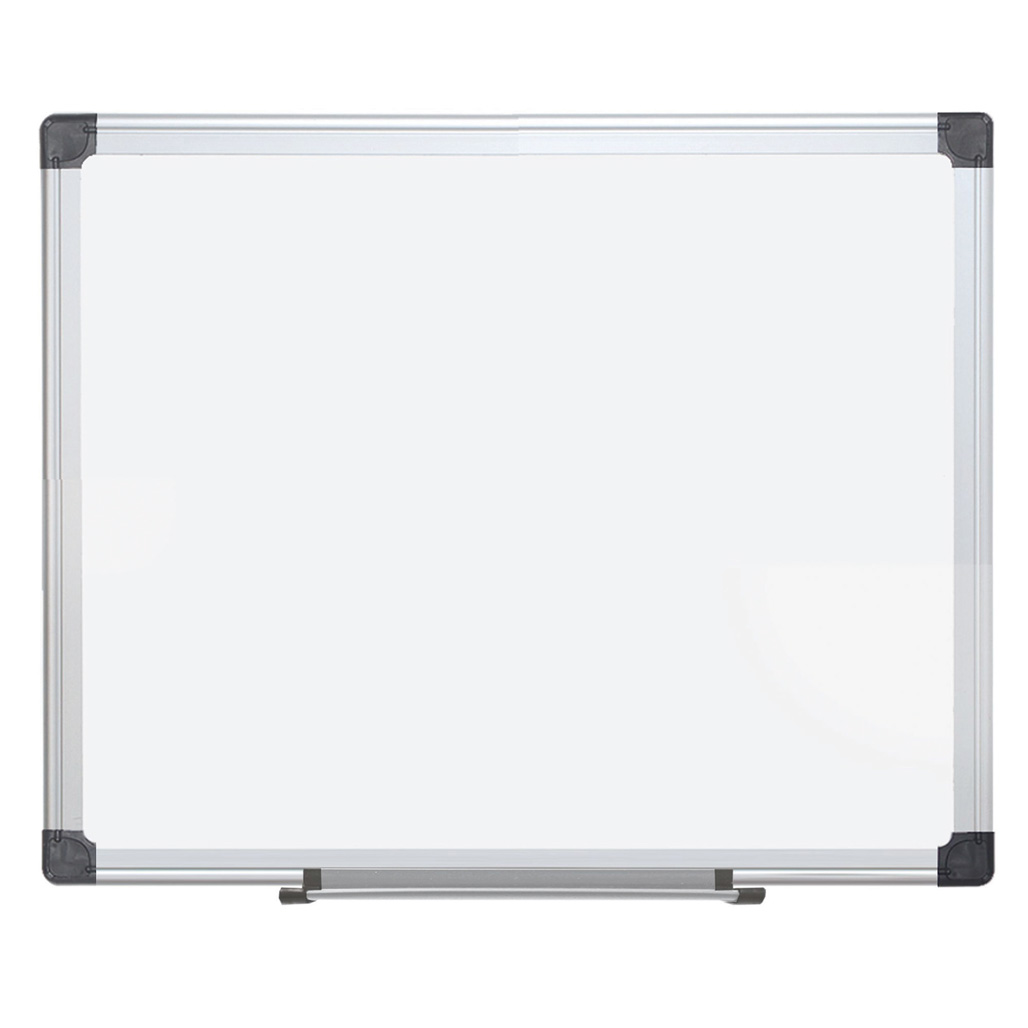 OfficeSource ViZual Collection Magnetic Porcelain Dry-Erase Board with Aluminum Frame – 48″ x 96″
