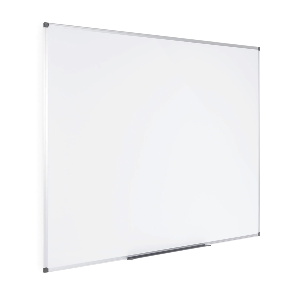 OfficeSource ViZual Collection Magnetic Steel Board with Aluminum Frame – 48″ x 96″