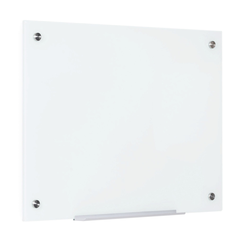 OfficeSource ViZual Collection Magnetic Glass Dry-Erase Board – 24″ x 36″