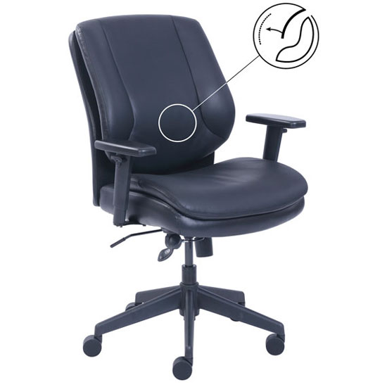 Task Mid Back Chair with Black Frame