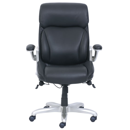 Executive High Back Chair with Silver Frame