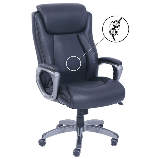 Executive High Back Chair with Smoke Gray Frame