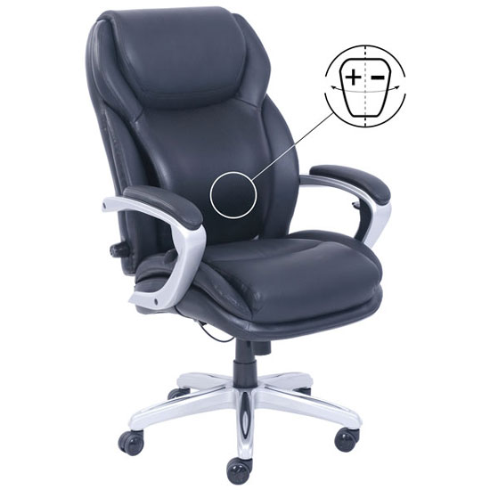La Z Boy Executive Adjustable Air Chair with Silver Frame