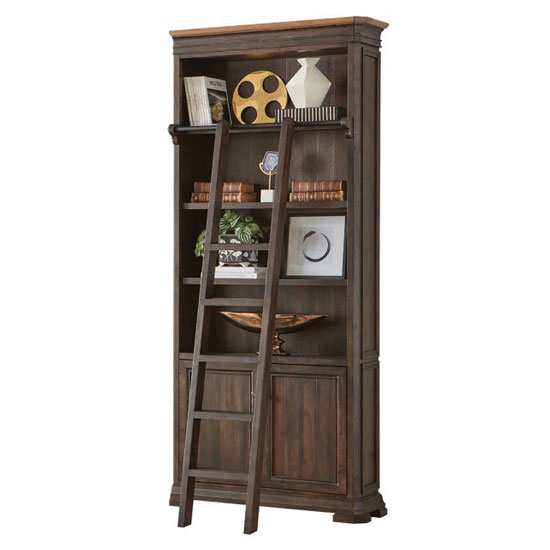 OfficeSource Westwood Collection Left Side Tall Bookcase