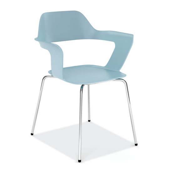 Stackable Chair with Chrome Frame