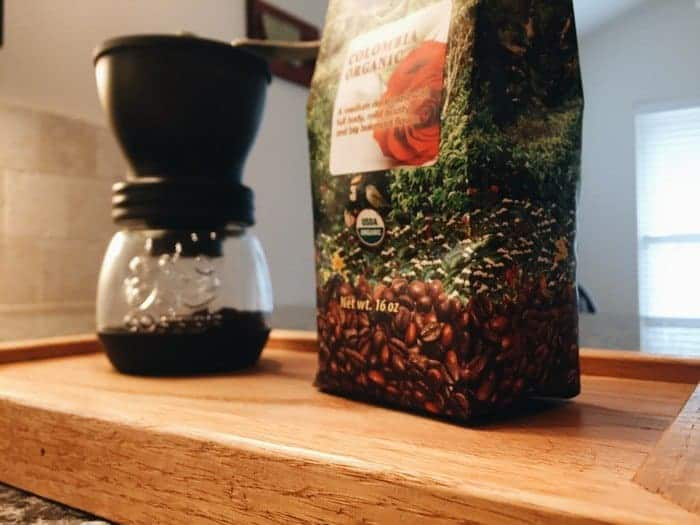 Java Planet Coffee Bag And Coffee Grinder