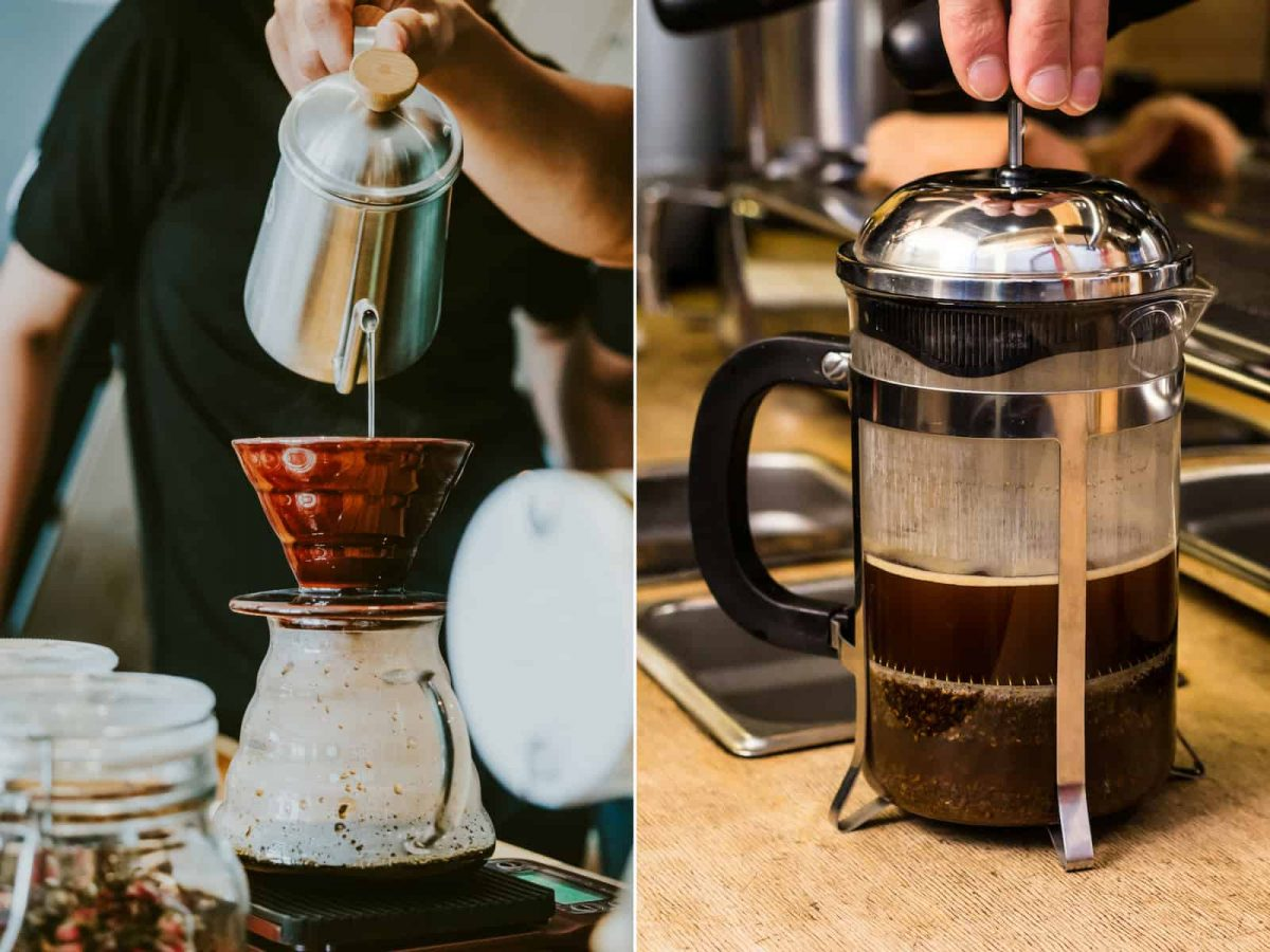 Pour over vs french press coffee maker