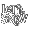 Fichier à broder gratuit :	Let it snow