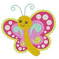 Fichier à broder gratuit :Papillon bariolé