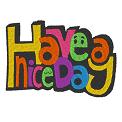 Fichier à broder gratuit :Have a nice day