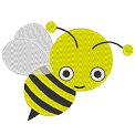 Fichier à broder gratuit :Petite abeille