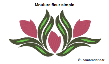 20170308 - Moulure fleur simple - coinbroderie.fr