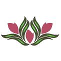 Fichier à broder gratuit :Moulure fleur simple