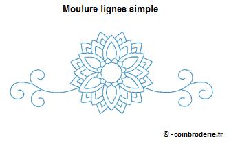 20170309 - Moulure lignes simple - coinbroderie.fr