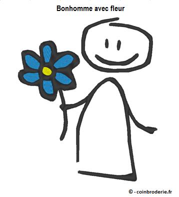 20170310 - Bonhomme avec fleur - coinbroderie.fr