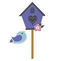 Fichier à broder gratuit :Volière avec oiseau