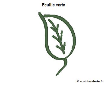 20170312 - Feuille verte - coinbroderie.fr