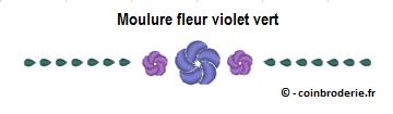 20170314 - Moulure fleur violet vert - coinbroderie.fr