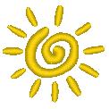 Fichier à broder gratuit :Soleil abstrait