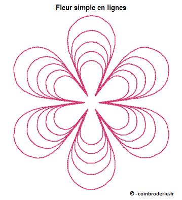20170322 - Fleur simple en lignes - coinbroderie.fr