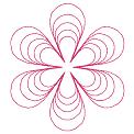 Fichier à broder gratuit :Fleur simple en lignes