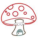 Fichier à broder gratuit :Maison champignon