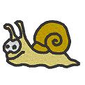 Fichier à broder gratuit :Escargot Comic
